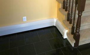 Baseboard radiator cover