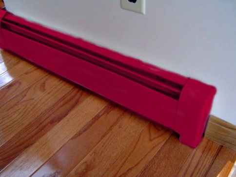 paint, rusted, baseboard heaters, DIY, baseboard covers, how to