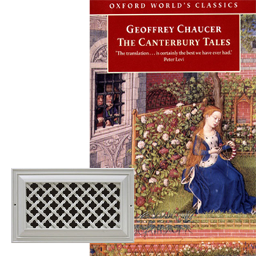 Canterbury tales inspired decor vent grille