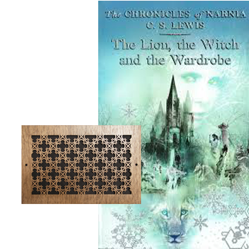 lion witch wardrobe inspired decor vent grate